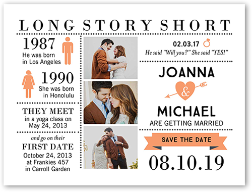 long story short save the date cards
