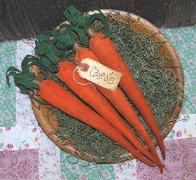 Homespun Annie-Spring: Bunny Chow Spring Carrots EPATTERN