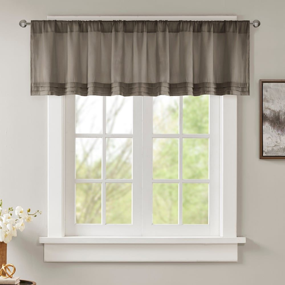 Madison park arlene faux silk pleated window valance products