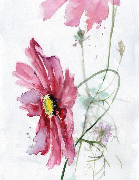 Il S Agit D Une Peinture Aquarelle Originale Par A Verbrugge Les