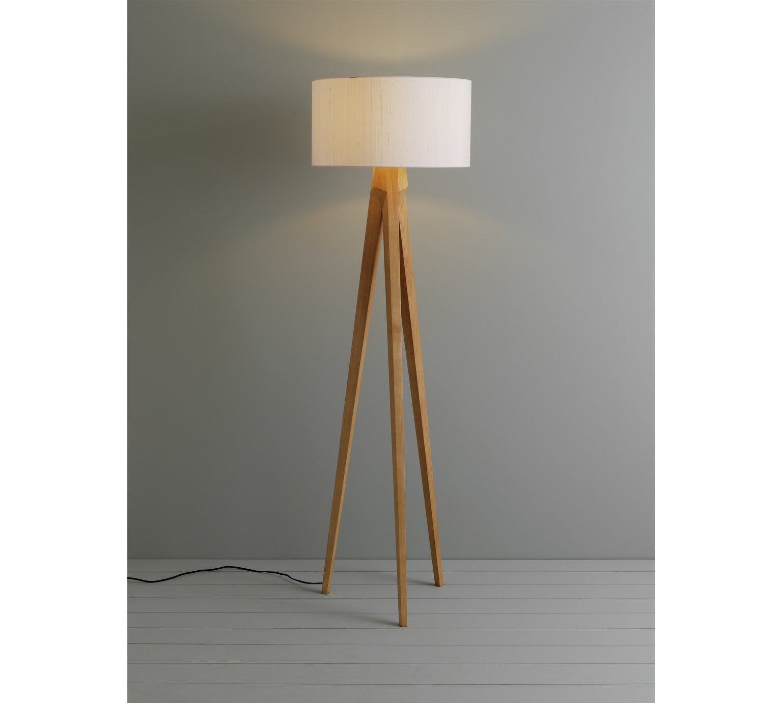 Buy Habitat Tripod Wooden Floor Lamp Ash At Argos Co Uk Visit Argos Co Uk To Shop Online For Floor La Wooden Tripod Floor Lamp Wooden Floor Lamps Floor Lamp