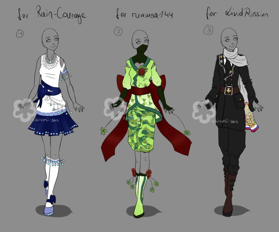 Custom Outfits #11 by Nahemii-san on DeviantArt