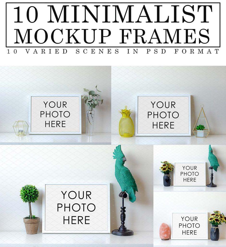 Minimalist mockup frames set | Pinterest | File size, File format ...