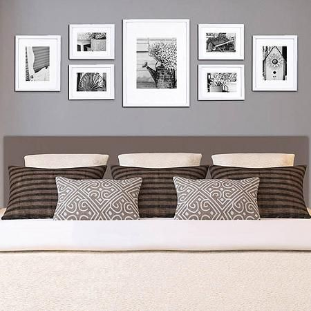 Pinnacle Gallery Perfect 7 Piece Frame Kit One 12 X 16 With 8 Or 10 Mat Options Two Frames Matted To 5