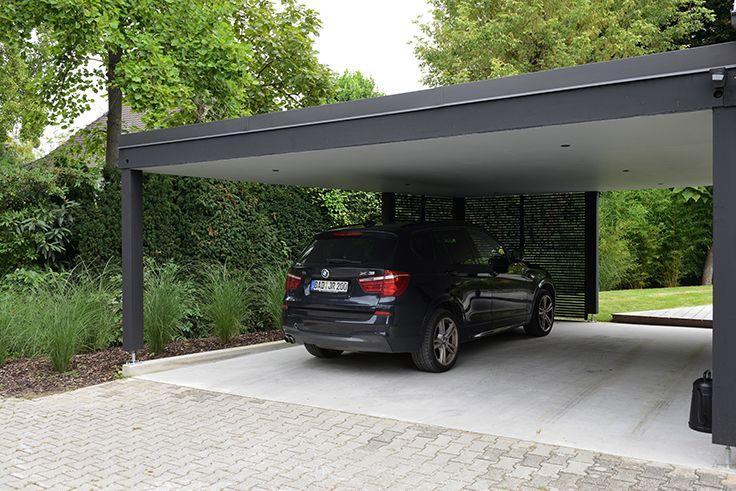 Gabionen Carport gabionen carport mit platz für zwei fahrzeuge outdoor spaces
