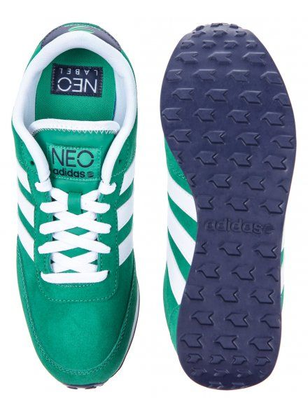 Adidas Mens Green V Racer Lea Suede Trainers