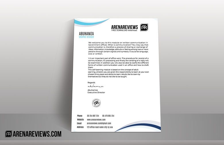 Free Download  Brand Identity Business Card Letterhead