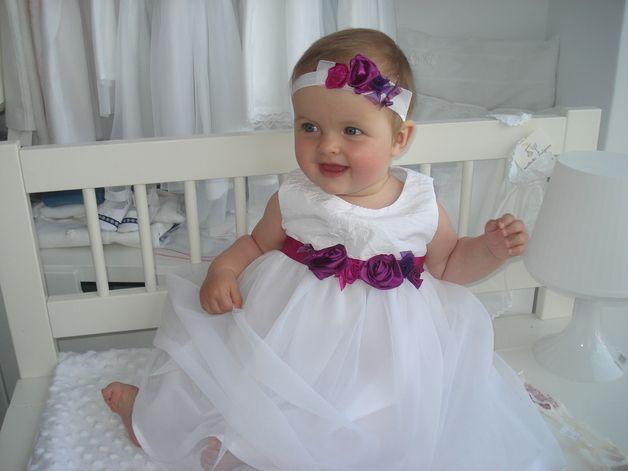 Mädchen Taufkleid( fuchsia/brombeer) | Babies