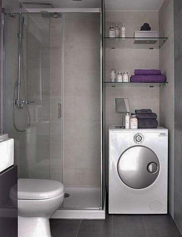 Bathroom functional small bathroom design ideas for for Bathroom designs with washing machine