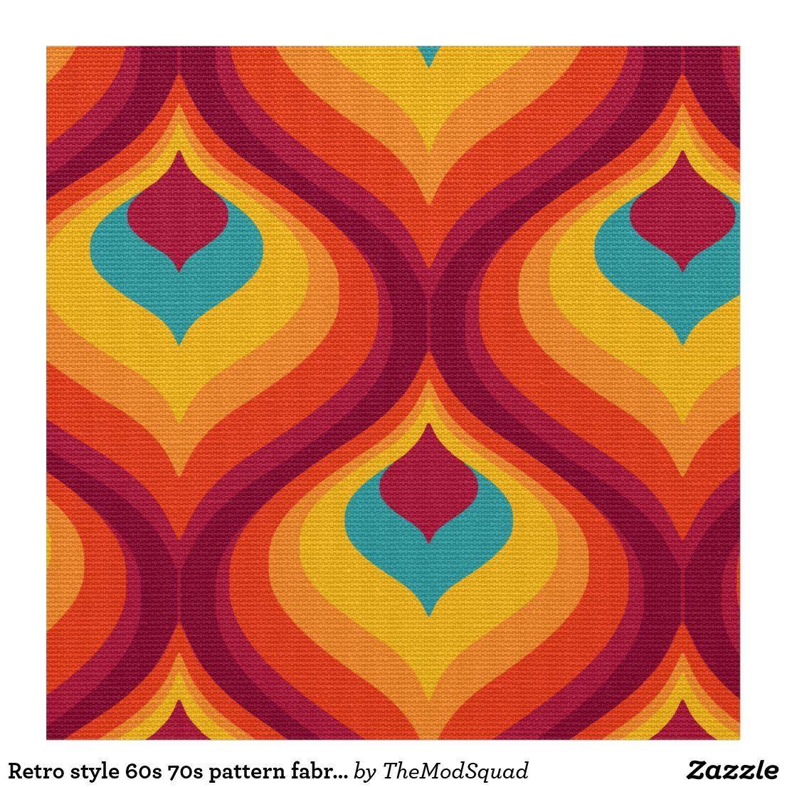 Retro style 20s 20s pattern fabric in 20   Retro prints, Fabric ...