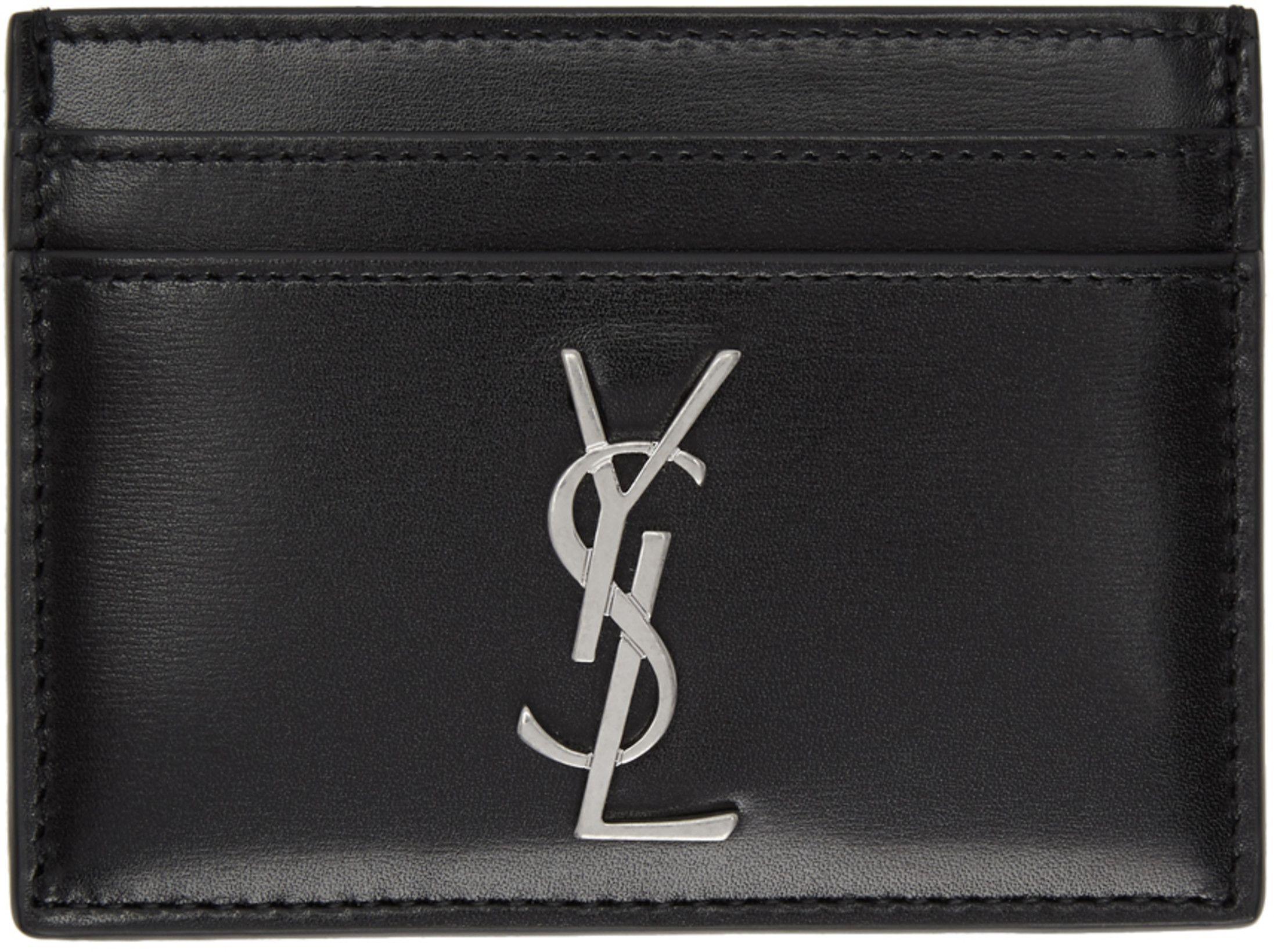 d6d011454b Saint Laurent - Black Monogramme Card Holder | list | Ysl card ...
