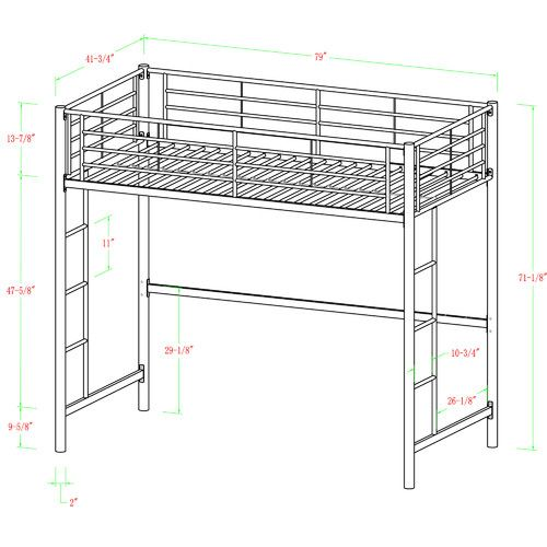 Bellmead Twin Over Twin Bunk Bed Loft Bunk Beds White