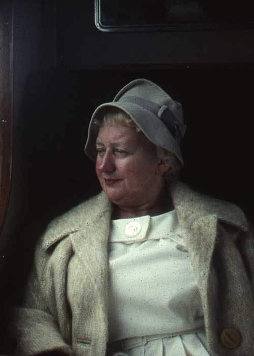 D101. Lady in the train 1950's