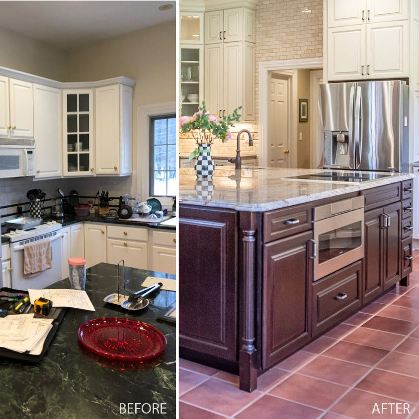 Andy Wolfe Of Northeast Factory Direct Used Columns To Complete The Island In This 660 Painted Hazelnut Glaze Kitch In 2020 Kitchen Remodel Cabinet Doors Living Spaces