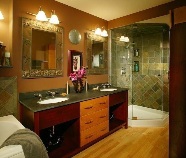 Atemberaubende, Warme Farben Für Badezimmer #Badezimmer #Büromöbel - farben fürs badezimmer