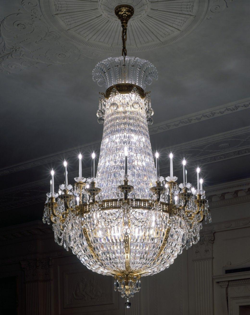 White house washington dc three floor second floor brass chandelier crystal chandeliers