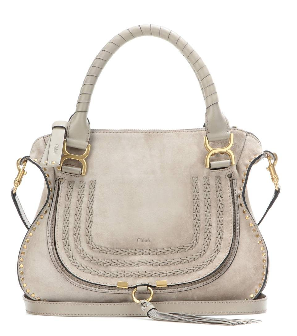 CHLOÉ Marcie Medium Suede Shoulder Bag. #chloé #bags