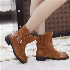 Beautiful PU & Abrazine Suede Cowhells Sole Women's Boots