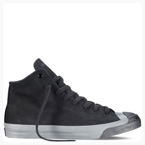 d293b3e46ef2 Converse Unisex Jack Purcell Jack Mid Monochromatic Nubuck Black Grey (10  Men Women 11.5) ( Partner Link)