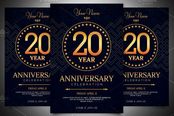 Anniversary Invitation Template by Gayuma on @creativemarket - anniversary invitation template