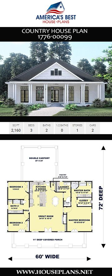 Photo of Country House Plan 1776-00099