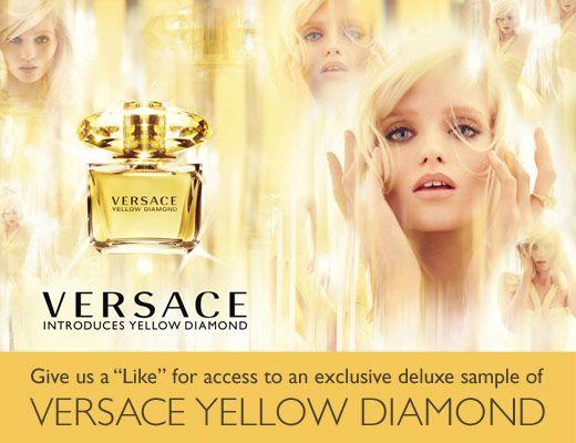FACEBOOK FREEBIE $$ FREE Deluxe Sample of Versace Yellow Diamond Fragrance!