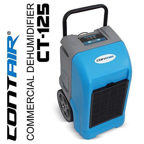 Contair Ct 125 Etl Certified Commercial Industrial Grade Portable Dehumidifier Humidity Controller Blue Office Furniture Collections Industrial Grade