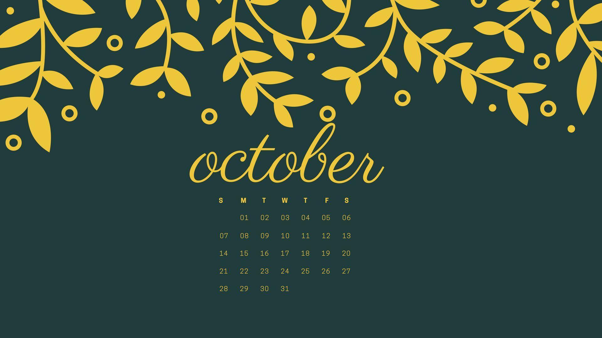 Free October 2018 Calendar Hd Desktop Wallpapers October Calendar Wallpaper October Wallpaper Calendar Wallpaper