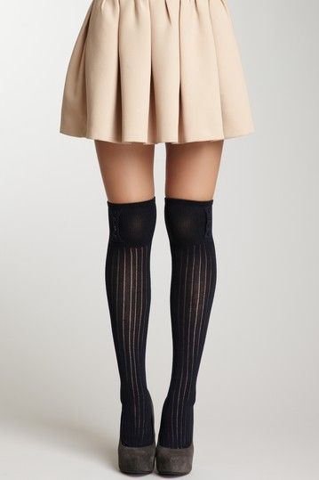 0ad65d0ff French Curve Buttoned Ribbed Knit Over-the-Knee Socks. If I had twig legs.