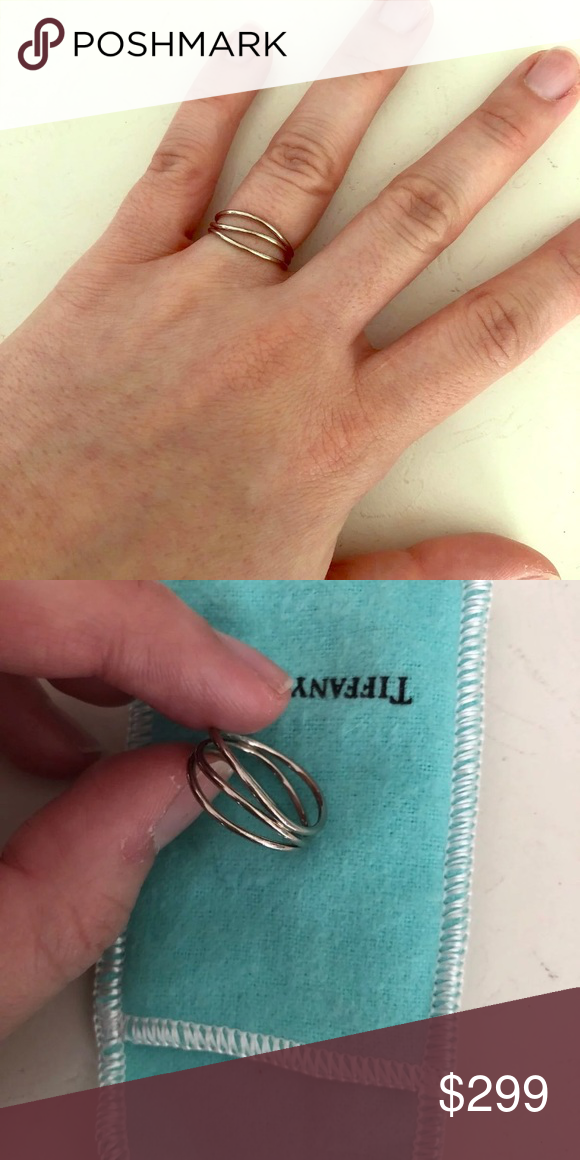 842587482 Elsa Peretti 3 row wave White gold ring Elsa Peretti 3 row wave White gold  ring from Tiffany & Co rare and retired. Great price! Tiffany & Co. Jewelry  Rings