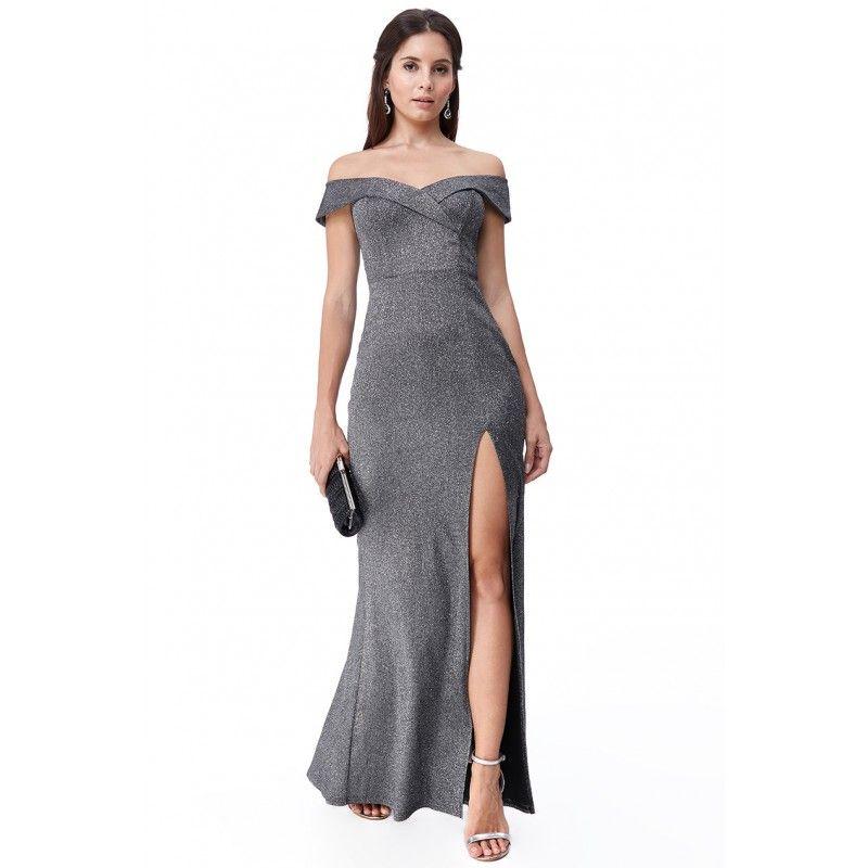 Czarna Dluga Sukienka Z Rozcieciem Dresses Cocktail Dress Fashion