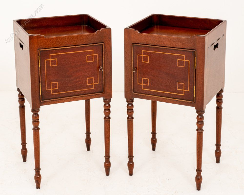 Pair Of Mahogany Regency Style Bedside Cabinets Bedside Cabinet