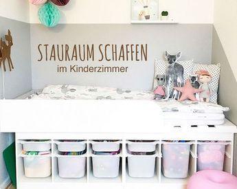 In Kinderzimmern Stauraum schaffen - das geht ganz einfach mit einem tollen IKEA  TROFAST Hack!