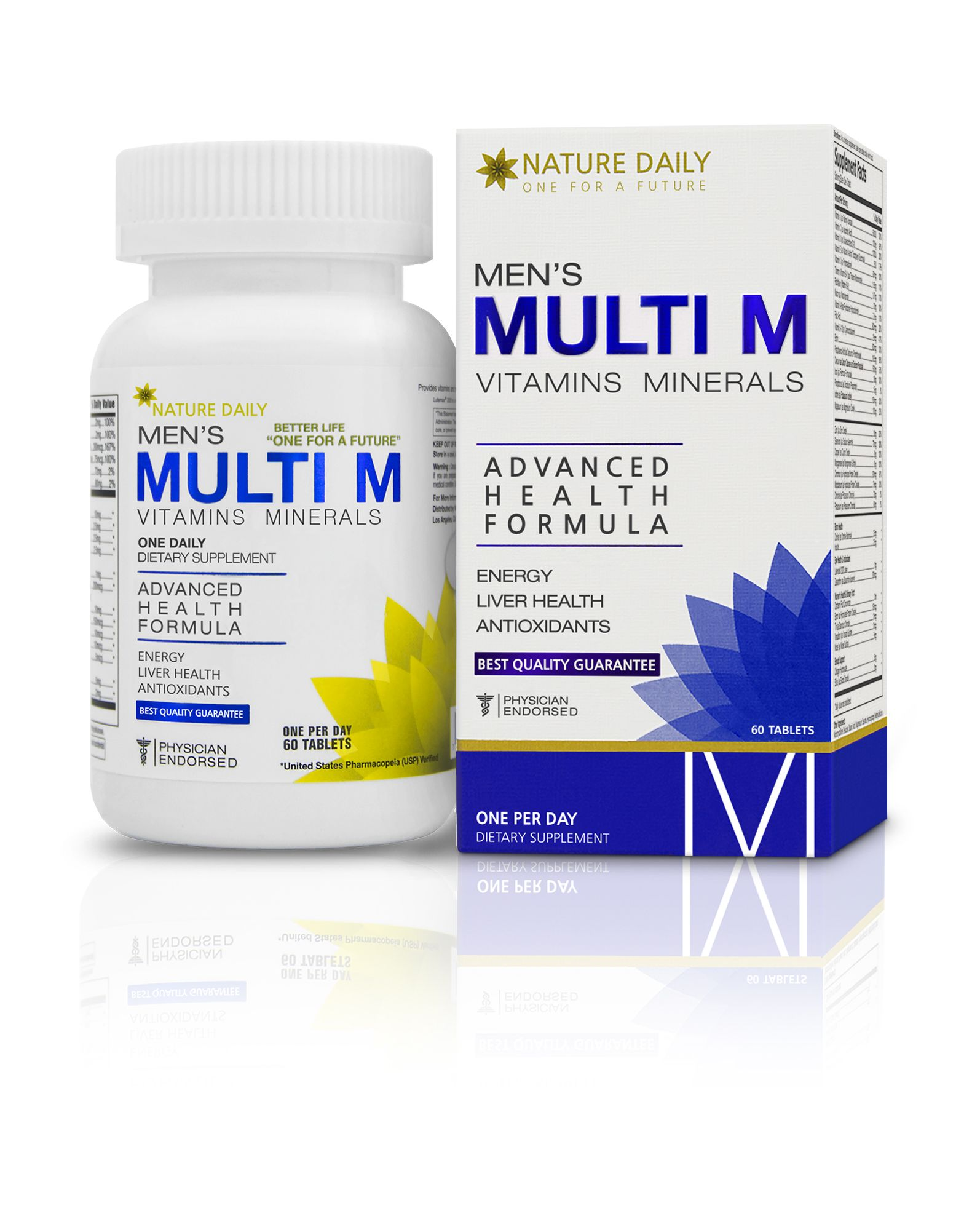 Nature Daily Men S Multi M Vitamins Minerals Advanced Health Formula One A Day 60 Tablets Whole Foo Whole Food Multivitamin Multivitamin Whole Food Recipes