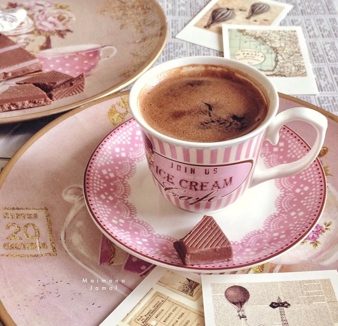 Have some #Pink with your coffee and chocolate.