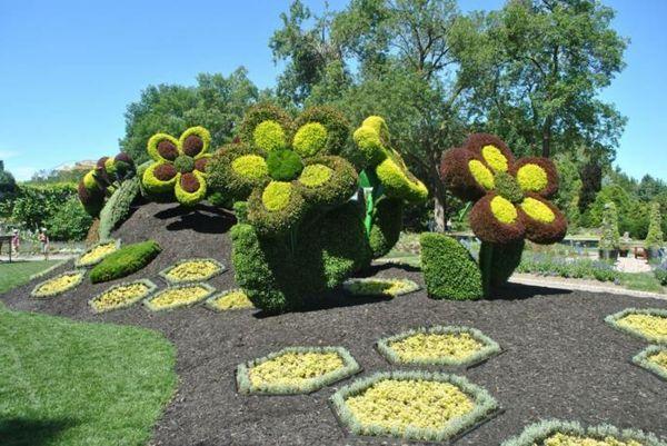 Gartenfiguren Aus Pflanzen Wunderliche Gartenkunst In Atlanta Gartenkunst Gartenfiguren Gartendekor