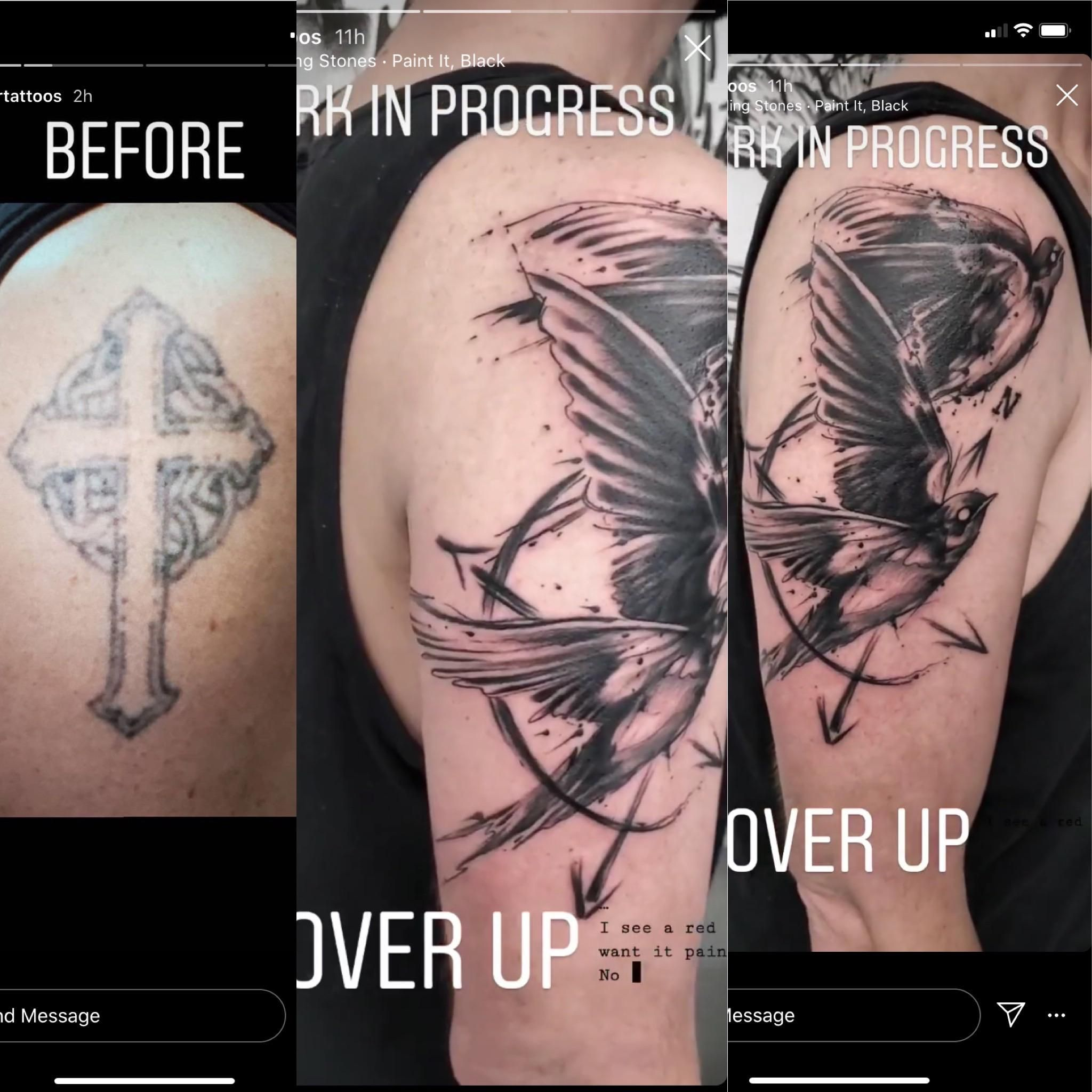 Cover Up Finally Under Construction Done By Piper At Certified Customs Denver Co In 2020 Cover Tattoo Cover Up Tattoos Prison Tattoos