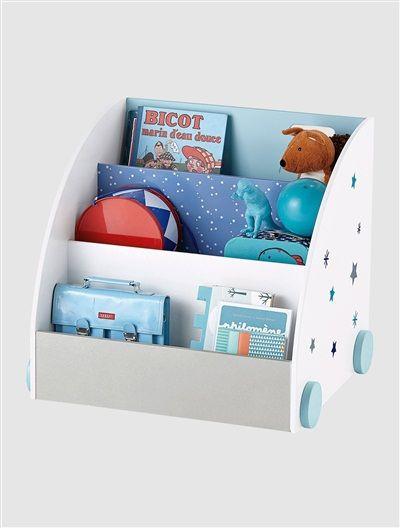 Kinder Bücherregal fahrbares bücherregal für kinder weiß blau proyecto bibliotecas