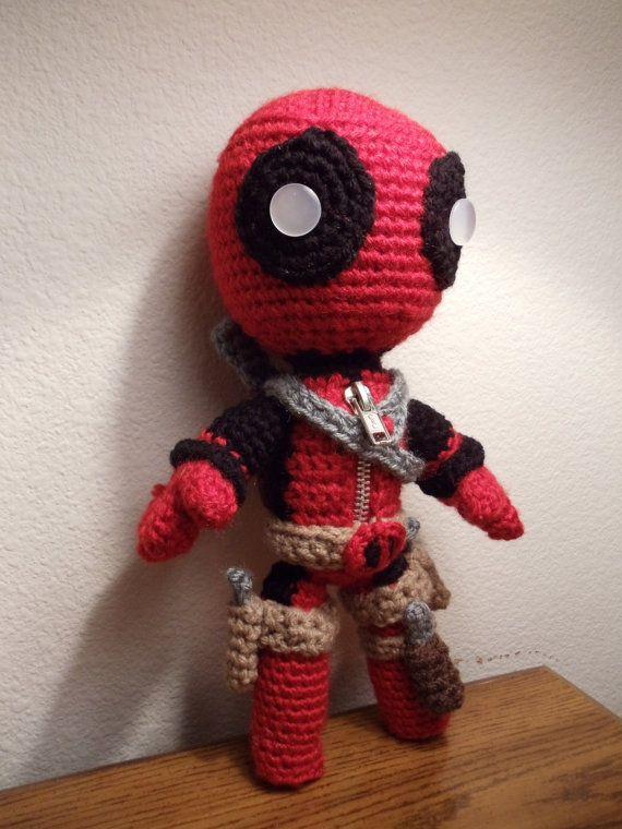 Deadpool Sackboy Amigurumi -Crochet doll - FREE SHIPPING US ...