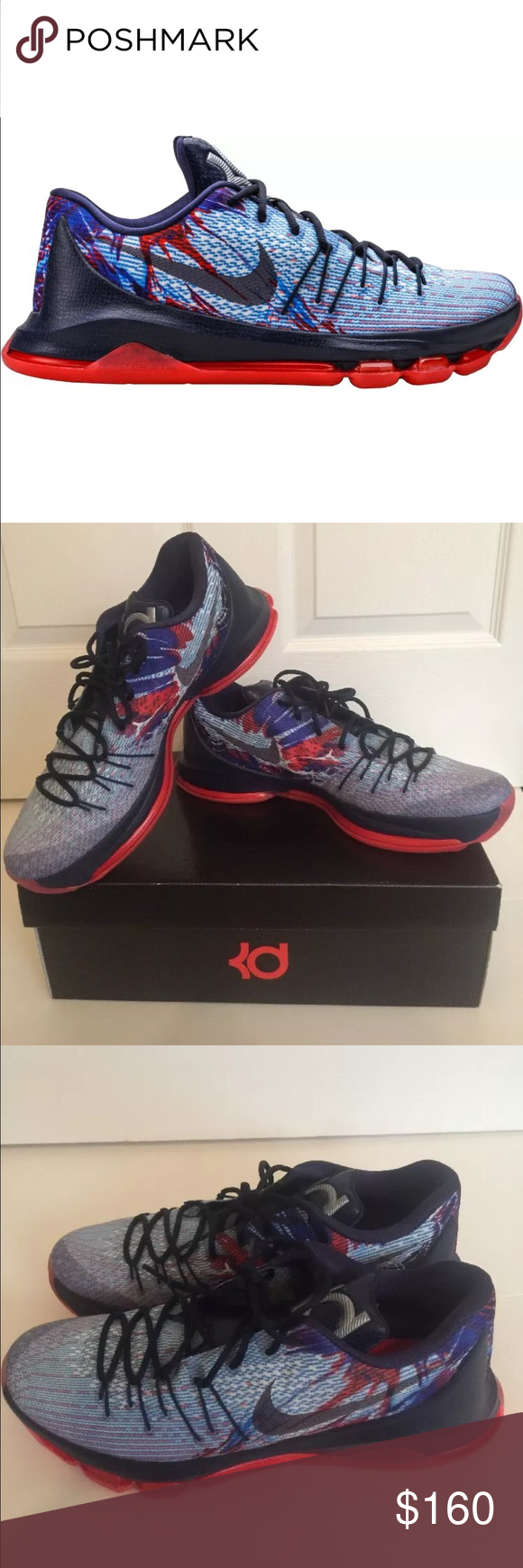 brand new 60f21 9b902 New Nike KD 8 USA Mid US Size 13 The Nike KD 8 Mens Basketball Shoe