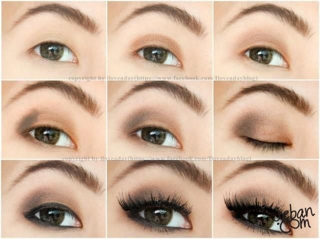 Step by Step Neutral Brown Eye Makeup for Asian Eyes | Makeup ...