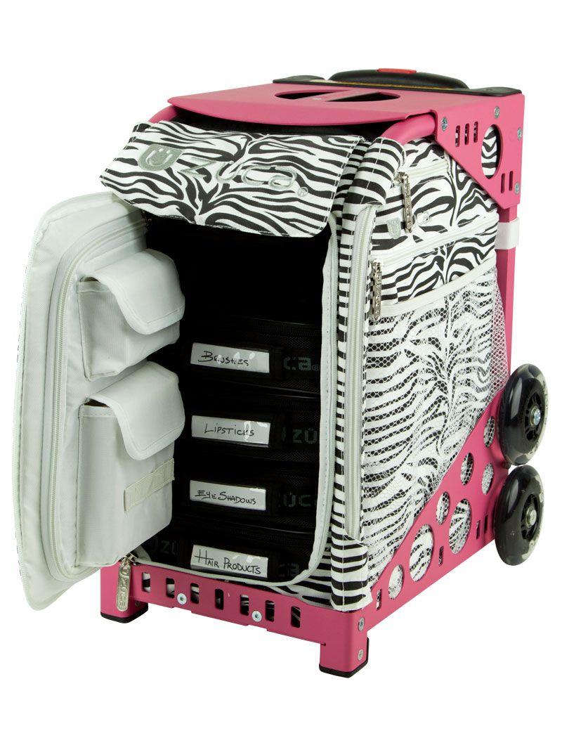 Sport Artist Zebra/Pink Frame Makeup bag, Pink frames