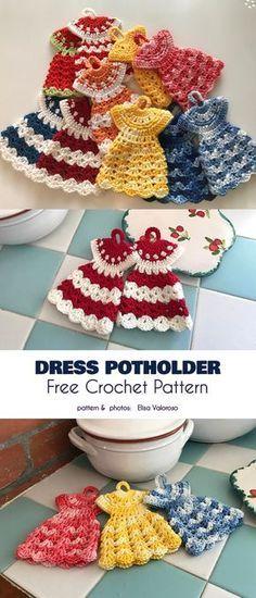 Dress Potholder Free Crochet Patterns