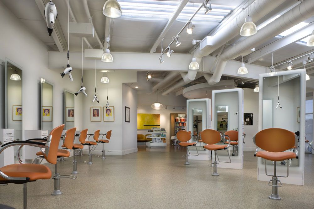 Another Of Same White With Freestyle Salon Design Modern Salon Home Decor