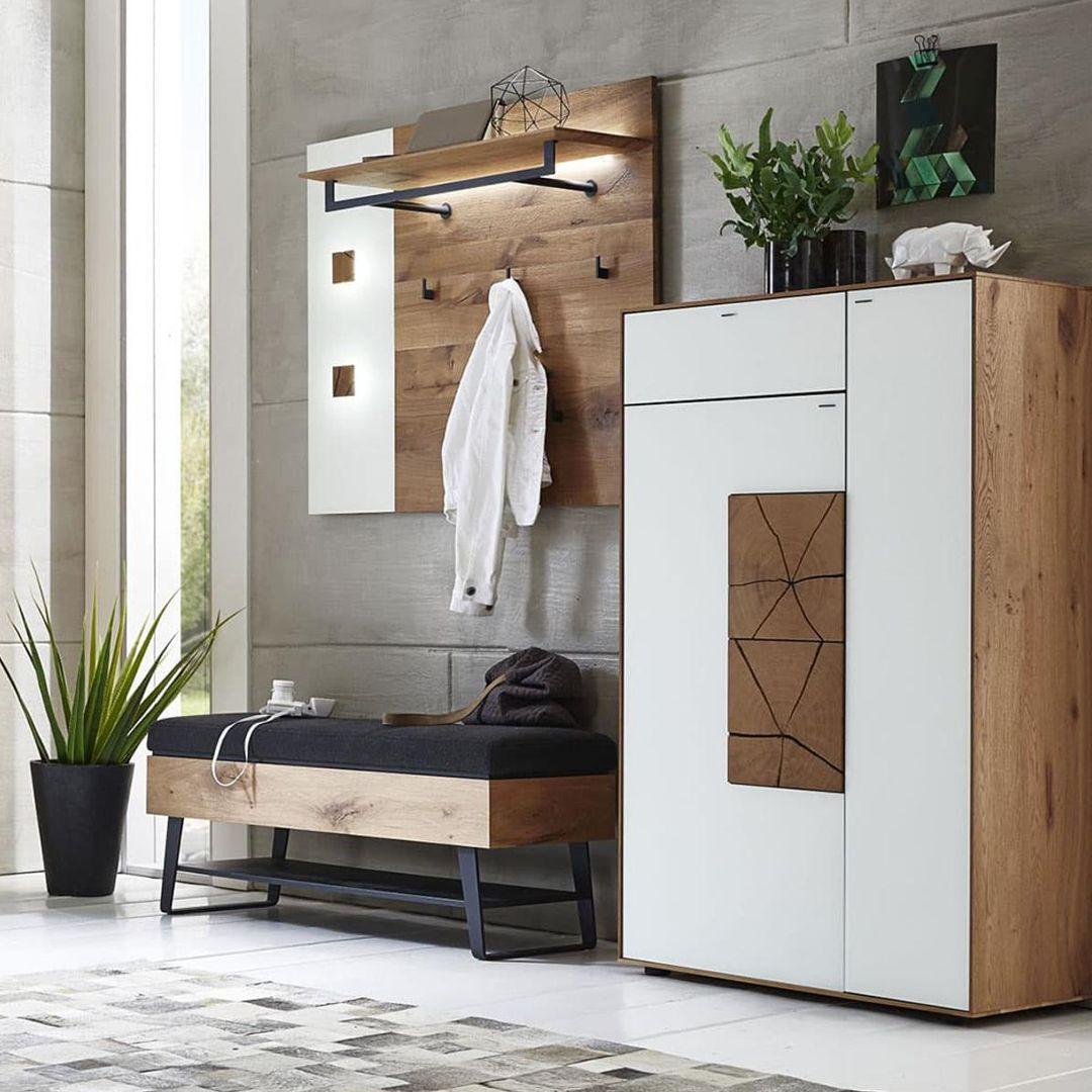 Garderobe Caya In 2020 Bauernhaus Wohnzimmer Garderobe Eiche
