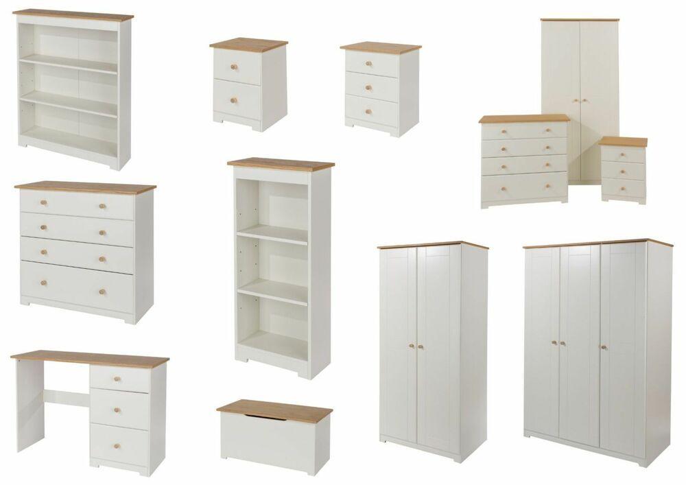 Colorado Warm White Bedroom Furniture Wardrobe Chest Drawers ...