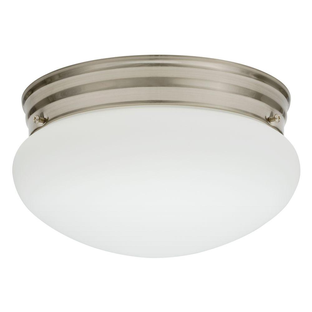lithonia lighting essentials 9 in polished brushed nickel led