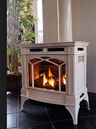 Propane Freestanding Fireplace Photo 2 Wood Stove In