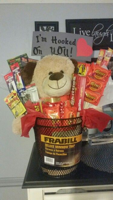 Mens Valentine S Day Basket Filled With Bass Fishing Lures Lottery