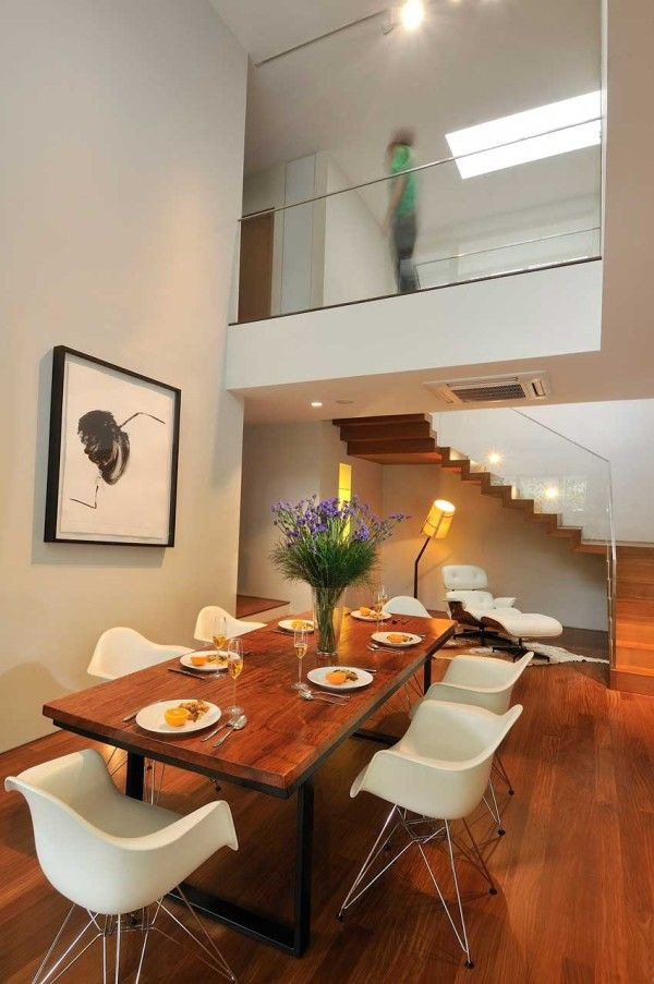 Double Height Living And Dining Area